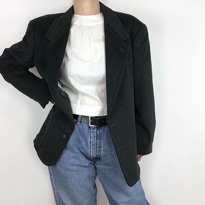 Mens Green wool Cashmere Blazer Alfani (M L women)
